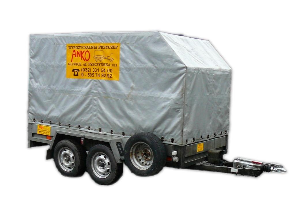 Przyczepa 2-osiowa DMC 750kg z hamulcem (dł.3,2m)